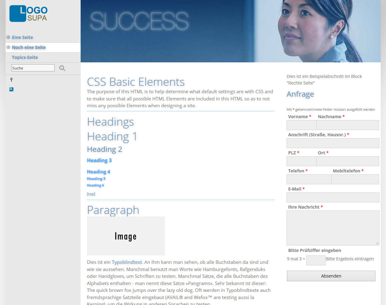 WBCE CMS Help - Templates